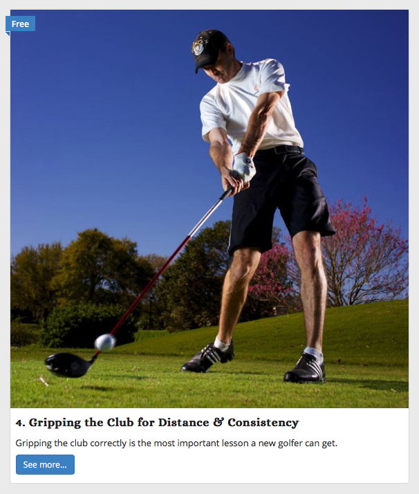 online golf class - the grip