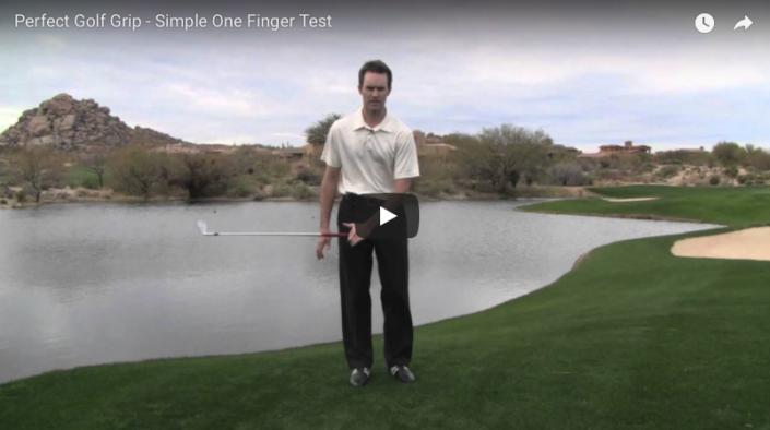one finger grip test